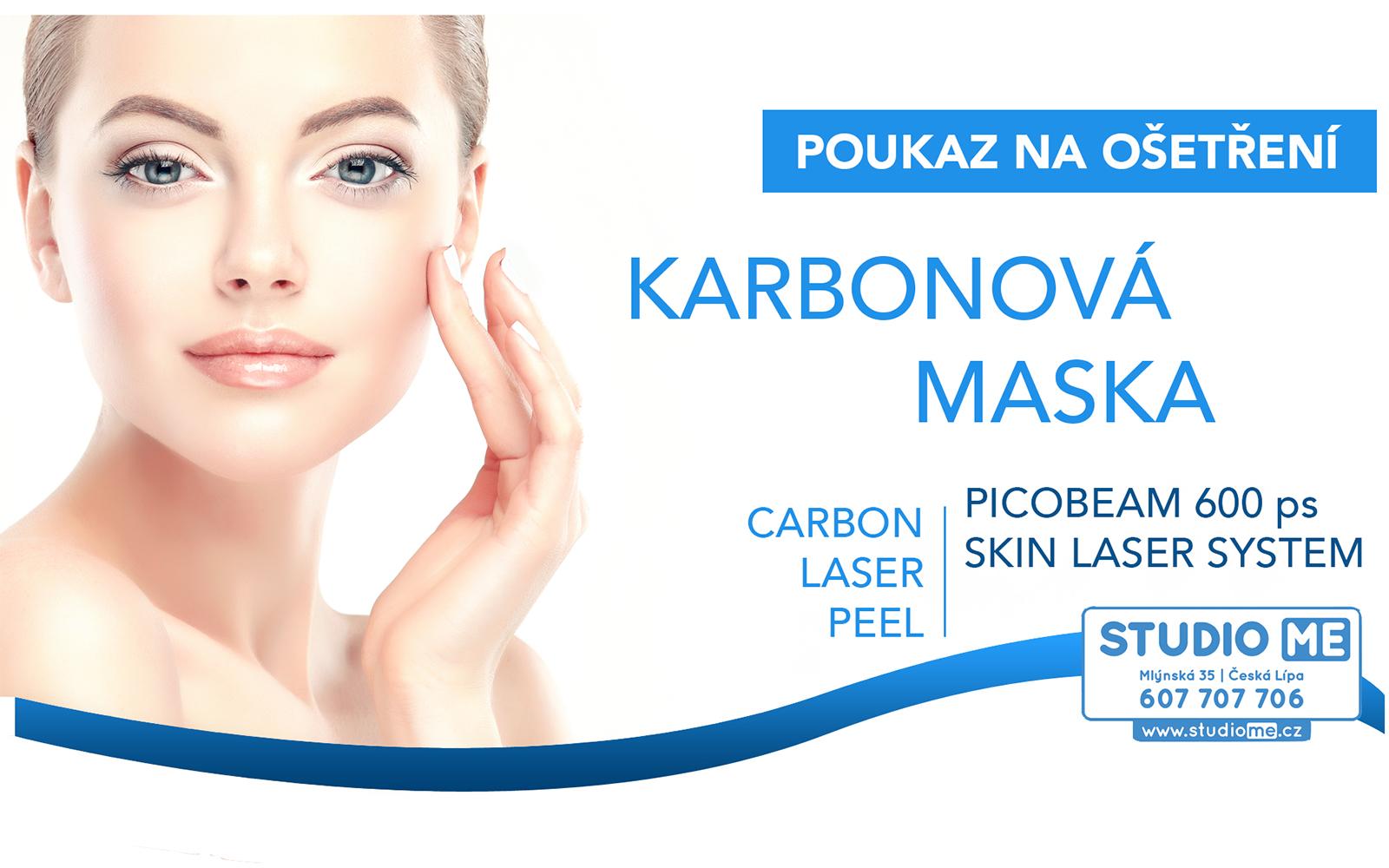 Dárkový poukaz - Karbonová maska