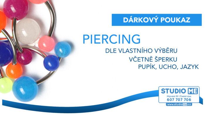 Dárkový poukaz Piercing za 1500